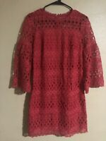 Laundry by Shelli Segal Womens Red Lace Cocktail Dress Size 2