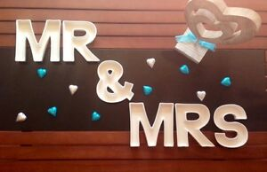 MR & MRS Letter Dishes for Wedding Table/Lolly Buffet/Table Decor/Bridal party