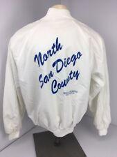 Vtg 80s HARTWELL satin snap SPECIAL OLYMPICS San Diego Jacket Coat sz XL USA