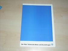 37239) VW Polo 6N technische Daten & Ausstattung Prospekt 10/1996