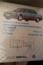 BMW série 7 E32 : schémas électriques 1992