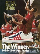 1975 Print Ad of Converse The Winner Low Cut & High Top Shoes Sears Basketball
