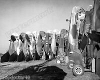 Photograph of WWII US Military Aircraft P-40 in Scrapyard Year 1945   8x10