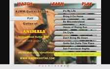 Custom Guitar Lessons, learn Animals guitar DVD Video