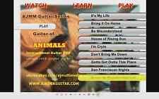 Custom Guitar Lessons, learn Animals guitar DVD Video