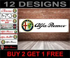 Alfa Romeo Banner Werkstatt, Garage, Büro Showroom PVC Banner