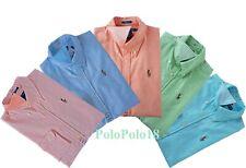 New Ralph Lauren Pony Women Slim Oxford Button Shirt