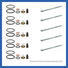 5 x INJECTOR SEAL KIT AND BOLTS FOR BOSCH PD INJECTOR - VW TRANSPORTER