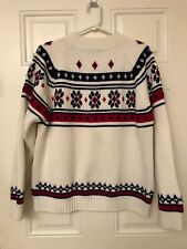 JC Penney Vintage Christmas Ski Sweater Men's Size Large Heavy Weight 70's 80's