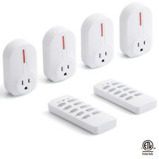 Wireless Remote Control Socket Outlet Switch Set 4 Electrical Outlets, 2 Remote