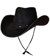 Mens Texan Cowboy Deluxe Fancy Dress Hat Black Durable Hat New W