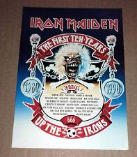IRON MAIDEN - The First Ten Years 1980-1990 - vintage postcard (England 1990)