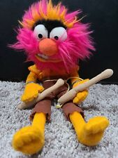 "Disney The Muppets 12"" ANIMAL Plush Stuffed Animal With Drumsticks Walt Disney"