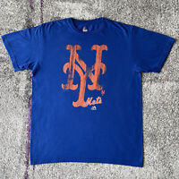 Majestic MLB New York Mets Baseball Shirt Mens Large