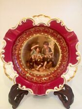 Mitterteich  Bavaria Germany Porcelain Small Plate Red , 2 Boys 5 3/4 ''