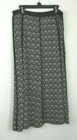 Alfred Dunner Black Chevron/ V-Pattern Skirt Women's Sz 8 Polyester Blend EUC C1