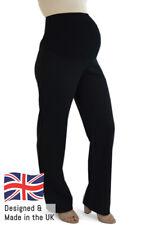 Black Maternity Bootleg Trousers (Short Petite Regular Long Tall Plus Size) UK