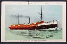 SS Steamship Olivette Postcard to George Walkens Esq 1c Schiff AK Post (Lot 8858