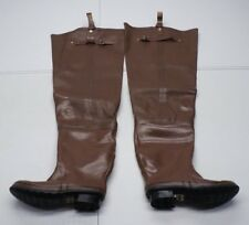 Steel Shank Mens 7 Brown Insulated Hip Waders Fishing Duck Hunting Rubber Boots