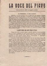 LA VOCE DEL PIAVE GIORNALINO DI TRINCEA 26 MAGGIO 1918 PRIMA GUERRA MONDIALE WWI