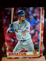 2019 topps Series 2 Leon Broxton Independence Day Parallel Variation # 37/76