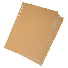 10 Pack X 6 Part Buff Brown Kraft Card Subject Dividers A4 Colour Index Files