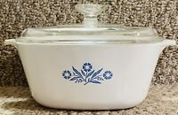 AUTHENTIC VINTAGE RETRO CORNING WARE CORNFLOWER 2 1/2 QT P-2 1/2-B STAMPED MINT