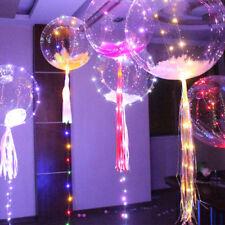 100Pcs Plume Pour Décoration Lumineux LED Ballon Transparent Mariage Noël Fête