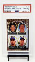 1993 Topps GOLD RC HOF Atlanta Braves CHIPPER JONES Rookie Baseball Card PSA 8