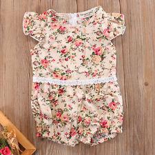 6-12M Newborn Baby Girl Bodysuit Floral Romper Jumpsuit Outfit Playsuit Clothes