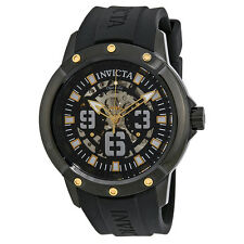 Invicta Objet D Art Automatic Black Skeleton Dial Mens Watch 22632