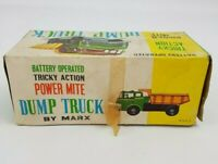 Marx Tricky Action Dump Truck Power Mite Battery Operated Vintage Toy Lorry