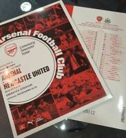 Arsenal v Newcastle United Match Day Programme  2019