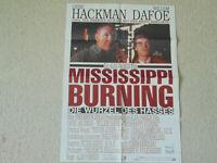 Gene Hackman, Mississippi burning  - Filmplakat DIN A 1
