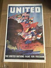 Vintage Original Ww2 Propaganda Poster