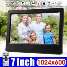Cadre Photo Numérique Ecran HD7 Pouces 1024x600 Album Musique Film +Télécommande