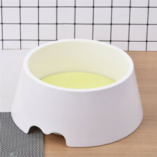 Dual-use Plastic Pet Dog Puppy Cat Eating Feed Bowl Food Water Durable Dish HOT