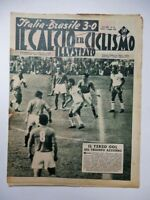 IL CALCIO E IL CICLISMO ILLUSTRATO 18 1956 vecchia rivista ITALIA BRASILE