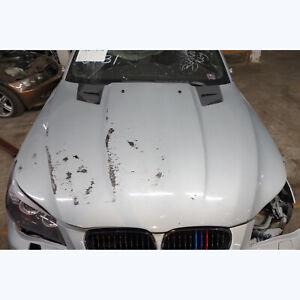 Damaged 2004-2010 BMW E60 5-Series Carbon Fiber Penta Style Hood w Vents Silver