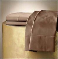 Hudson Park 600 TC 100% Egyptian Cotton Flat Sheet Mink Brown C1038