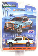 GREENLIGHT 51088 2016 GALPIN FORD GULF OIL F-150 PICK UP TRUCK 1/64 LIGHT BLUE