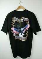 GUARDIANS OF FREEDOM T Shirt MADE IN USA Sz L Mens Bald Eagle Americana Patriot