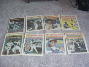 New York  The Sporting News lot of 8. 1970's and 1980's Goose, Mattingly, Winfi