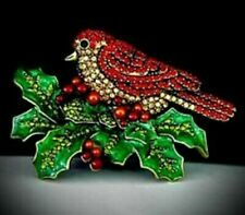 """BEAUTIFUL HEIDI DAUS CRYSTAL PIN """"BOUGHT OF HOLLY""""  VERY SPARKLY, BRAND NEW,"""
