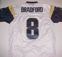 Sam Bradford 8 St. Louis Rams NFL NFC West Reebok Blue Gold White Jersey 50 New