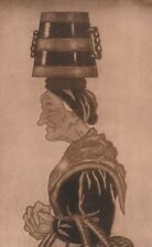 "*Postcard-""Lady with Container on Top of Head""  (U1-355)"