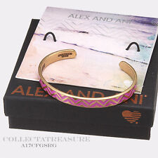 Authentic Alex and Ani Color Infusion, Grape Sangria Rafaelian Gold CUFF