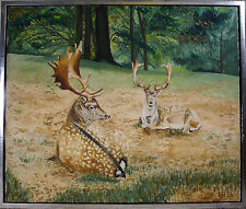ERIK BRONS! DEERS IN THE FOREST. NO RESERVE