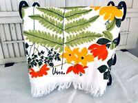 Vintage VERA Dish Towel/Hand Towel All Cotton, Yellow & Orange Flowers