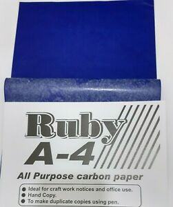 A4 CARBON PAPER SHEETS HANDCOPY BLUE - 5, 15 OR 35 Sheets